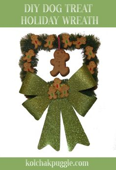 """The other day, I saw the cutest thing on the Facebook. Our friend, Spencer the Golden Doodle had made a wreath out of dog bones! [caption id="""""""" align=""""aligncenter"""" width=""""500""""]"""