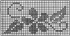 Lindos gráficos de flores de ponto cruz - Vix