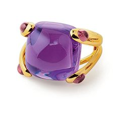 18k Yellow-gold 'Candy' Amethyst Ring