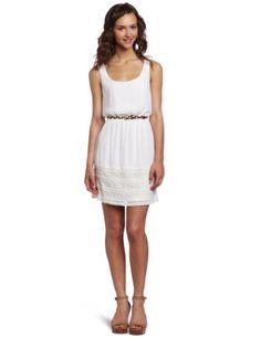 As U Wish Juniors Woven Belted Dress