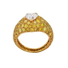 boucheron ring yellow diamond