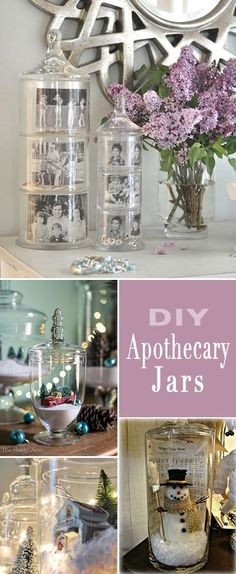 18 Apothecary Jar Ideas • Ideas for making and filling pretty apothecary jars! Love these creative ideas!