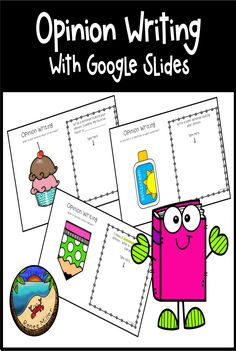 Opinion Writing Activities for Digital Learning with Google Slides and Google Classroom.  First Grade! Summer School Activities, First Grade Activities, Teaching First Grade, Elementary Teaching, Spring Activities, Writing Resources, Writing Activities, Classroom Activities, Teaching Resources