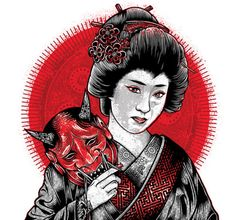 Daily Tee: Oni Geisha t-shirt design by Chris Parks #fancy #tshirt #tee #design