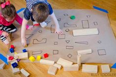 Need a quick and easy math activity? Try this giant shape match! It& perfect for toddlers and preschoolers! A great indoor activity that kids will love! Math Activities For Toddlers, Autumn Activities For Kids, Toddler Preschool, Crafts For Kids, Learning Activities, Montessori Activities, Toddler Fun, Toddler Learning, Infant Activities
