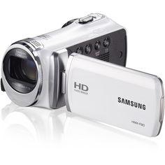Samsung HMXF90WNXAA Camcorder - HD - 5.0 MP - 52x zoom - White / Videocámara Samsung HMXF90WNXAA - Alta Definición - 5.0 MP - 52x zoom - Blanco