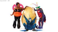 Costumes that look like bugs, at Cirque du Soleil's show Ovo