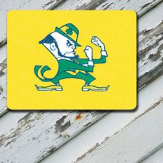 Mousepad Notre Dame Yellow Background Design on by EastCoastDyeSub