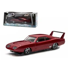 Doms 1969 Dodge Charger Daytona Maroon Fast and Furious 6 Movie 2013 143 Diecast Model Car by Greenlight, , Collectible Die-Cast Vehicles Products, Vehicles, Trains & RC Products Dodge Daytona, 1969 Dodge Charger Daytona, Furious 6, Fast And Furious, Dodge Models, Star Wars, Rubber Tires, Diecast Model Cars, Classic Cars