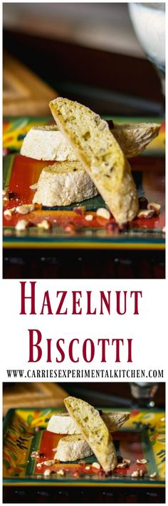 Hazelnut Biscotti made with Frangelico and hazelnuts is a hard, Italian cookie that tastes even better when dunked in milk, tea, coffee or cappuccino. Biscotti Cookies, Biscotti Recipe, Cookie Desserts, Cookie Recipes, Snack Recipes, Snacks, Best Italian Recipes, Favorite Recipes, Anise Cookie Recipe