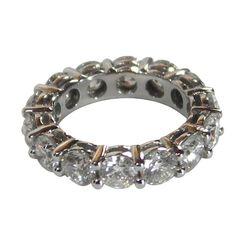 Diamond Platinum Com  Diamond Platinum Common Prong Eternity Bands >>> Love to wear Eternity Bands on my thumb!!