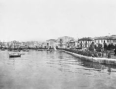 A waterside view of Salonika. One of a series of photographs taken by Lieutenant William James of the Australian War Records Section. Paris Skyline, New York Skyline, Greek History, Williams James, Thessaloniki, Old Photos, Greece, War, Memories