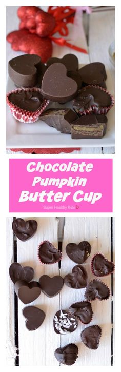 FOOD - Chocolate Pumpkin Butter Cup. A delicious and nut free treat for your kids! http://www.superhealthykids.com/chocolate-pumpkin-butter-cups/