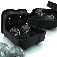 Chillz Ice Ball Maker - 2 Black Flexible Silicone Ice Trays - Mold 8 X 4.5cm Round Ice Ball Spheres (2 Pack) The Classic Kitchen http://www.amazon.com/dp/B00UKO3AN0/ref=cm_sw_r_pi_dp_uecDvb03PBHRS