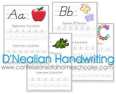 D'Nealian Handwriting Worksheets - free printable
