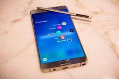 Samsung Galaxy Note 6 komt in juni, krijgt irisscanner en werkgeheugen Latest Technology Gadgets, Technology Updates, Galaxy Note 7, Galaxy S7, Samsung Galaxy, Biometric Scanner, Mobile World Congress, Top Apps, Android
