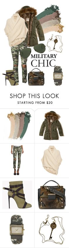"""""""Military chic"""" by jellyfish-c ❤ liked on Polyvore featuring Gucci, Hollister Co., DL1961 Premium Denim, Tuinch, Dsquared2, Furla, Decree, Tiffany & Co. and Ray-Ban"""