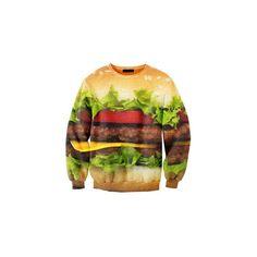 Sweat mixte avec motifs imprimés SWAG Junk food hamburger