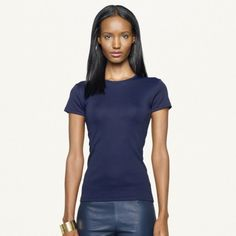 Camiseta Ralph Lauren Women's Hope Tee Midnight Blue #Camiseta #Ralph Lauren