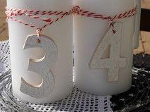 *Adventszahlen aus Keramik*