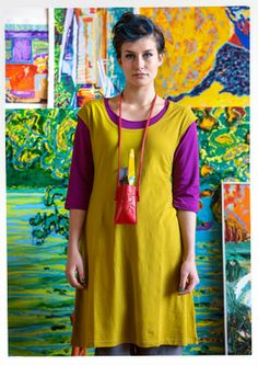 Jersey dress in eco-cotton & elastane – Artists with a huge passion for colour – GUDRUN SJÖDÉN – Webshop, mail order and boutiques | Colourf...