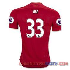 Camiseta IBE Liverpool 2016 2017 primera