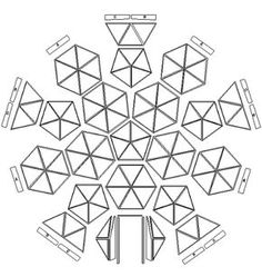 simple building map for a geodome construction Geodesic Dome Greenhouse, Geodesic Dome Homes, Greenhouse Plans, Dome Structure, Exploded View, Dome House, Garden Projects, Diy And Crafts, How To Plan