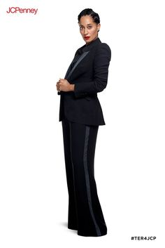 3fbaaafd49 Get glam with this feminine tuxedo set from Tracee Ellis Ross for JCPenney.  The tuxedo