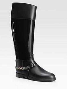 Jimmy Choo rain boot.  His rain boots are even sexy.