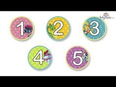 Los números del 1 al 5 para preescolar