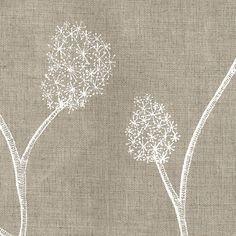 Printed Linens: Wisteria Natural White   Allegra Hicks