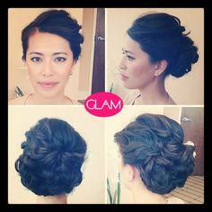 elegant low bun hair style wedding hair updo