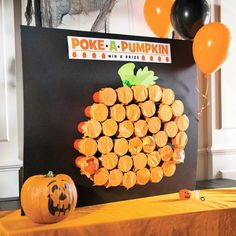 Are you looking for a fun game to play during your Halloween party? Then check out this awesome Classic Halloween Poke-a-Pumpkin Game Idea! (Halloween Games For Party) Halloween Class Party, Halloween Games For Kids, Holidays Halloween, Halloween Carnival Games, Halloween Classroom Decorations, Preschool Halloween Party, Toddler Halloween Crafts, Holloween Party Ideas, Halloween Drinking Games