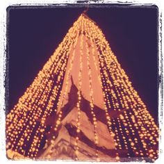 the circle of lights-downtown indianapolis