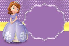 Moldura Convite e Cartão Princesa Sofia da Disney: