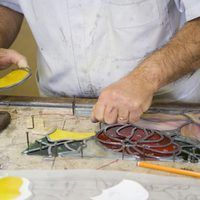 The items used to set up a stained glass studio vary depending on the type of projects you plan to make. There are a few different items required to build lead came stained glass that are not used for copper foil projects, but most of the basic tools are the same. Tools are required to make the pattern and cut, shape and assemble the glass. The...