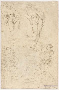 Schetsen van de dochters van Cecrops, Peter Paul Rubens, , 1611 - 1616