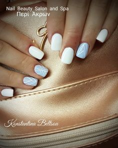 Acrylic nails with gel polish short square Oval Shape and nail art with colour gel
