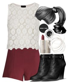 """Lydia Inspired Clubbing Outfit with Shorts"" by veterization ❤ liked on Polyvore featuring Forever 21, Topshop, Coach, Bobbi Brown Cosmetics and Ilia"