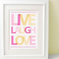Live Love Laugh madera cubo regalo I Love You Me /& You regalo de amor