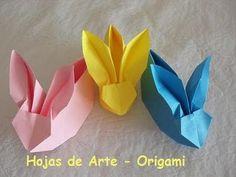 Origami Folhas de Arte: Coelho cestinha  passo a passo