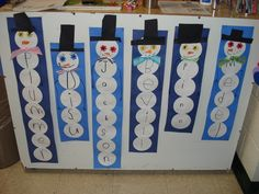 First name snowmen ~ fun for kids