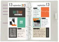 jagged little thoughts: Project Life Filofax