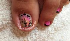 Cute Pedicures, Manicure And Pedicure, Toe Nail Art, Toe Nails, Dolphin Nails, Toe Nail Designs, Hair Beauty, Lily, Ideas Para