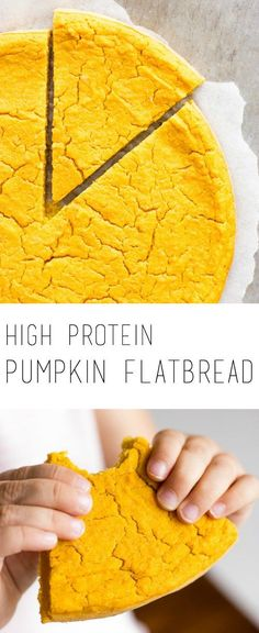 The secret ingredient of this vegan high protein pumpkin flatbread recipe is red lentils. It's delicious, healthy and easy to bake!