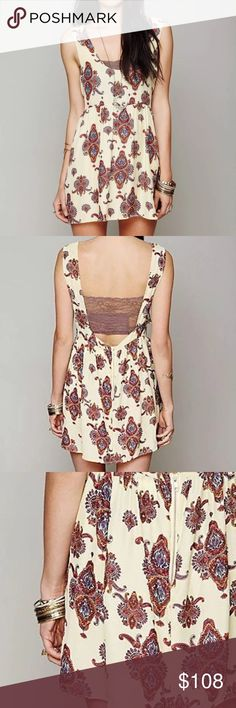 FREE PEOPLE Mini Dress Patterned Bohemian Classic Size US Large. Great Condition. $108 MSRP + Tax.  • Beautiful printed mini dress featuring an effortless lightweight silhouette. • Open, cutout back with exposed partial zip closure. • Muted geometric printed design throughout. • By One Teaspoon for Free People.  • Slip pocket at each lower side. • Unfinished raw seams. • Unlined, babydoll.  • Imported.  {Southern Girl Fashion - Closet Policy}  ✔️ Same-Business-Day Shipping (10am CT) ✔️ Price…