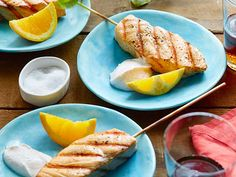 20 Healthy Fish Recipes - I like this one, fish on a stick, what a great idea for grilling!