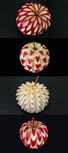 The art of food and fruit carving is really mesmerizing. Fruit sculptures have become inevitable decorations at parties, while the list of fruits suitable for carving includes melons, oranges, apples, Fruit Sculptures, Food Sculpture, L'art Du Fruit, Cute Food, Yummy Food, Creative Food Art, Easy Food Art, Fruit List, Fruit And Vegetable Carving
