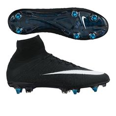 Nike Mercurial SuperFly IV CR7 SG-Pro Soccer Cleats (Black Neo Turquoise  c40a3f538