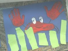 Kindergarten Crafts ~ Hand- and Footprint Crabs